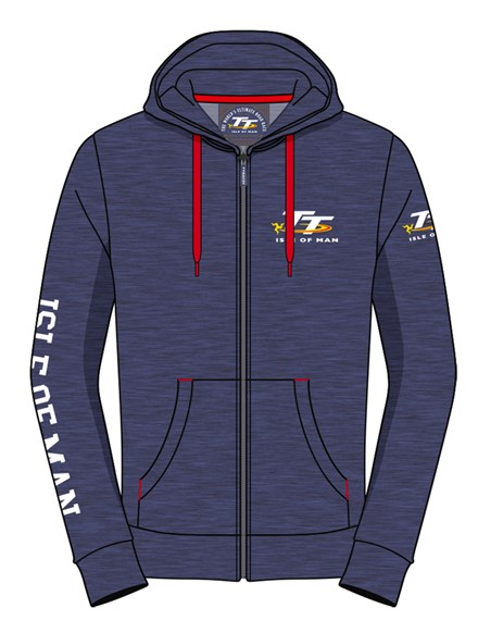 TT Hoodie Navy with Red Drawstring - click to enlarge