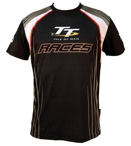 TT All over Print T-Shirt with White/Red Stripe - click to enlarge