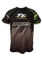 TT All over Print T-shirt Black and Green