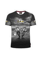 TT All over Print T-Shirt,Grey 2 Bikes