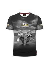 TT All over Print T-Shirt,Grey 2 Bikes