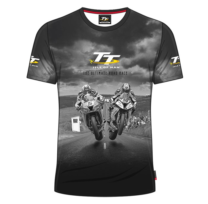 TT All over Print T-Shirt,Grey 2 Bikes - click to enlarge