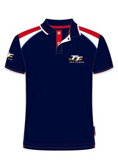 TT Polo Navy, Red and White Shoulder