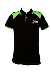 TT Polo Black, Green and White Shoulder