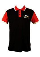 TT Polo Black, Red Shoulder
