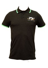 TT Polo Charcoal, Green Trim