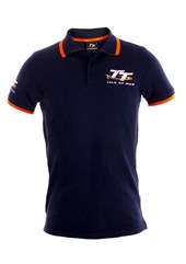 TT Polo Navy, Orange Trim