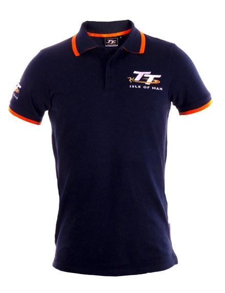 TT Polo Navy, Orange Trim