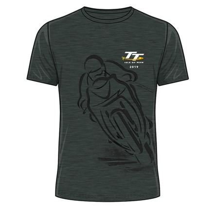 TT 2019 Shadow Bike T-Shirt Dark Heather - click to enlarge