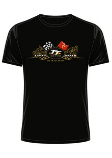 TT 2019 Gold Bikes T-Shirt Black
