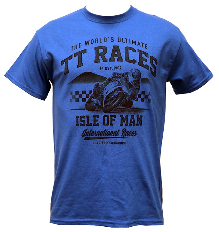 The Worlds Ultimate TT Races Est 1907 T- Shirt Royal Blue - click to enlarge