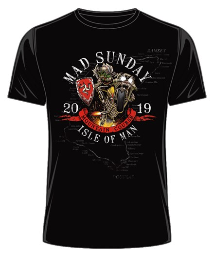 TT 2019 Mad Sunday T-Shirt Black - click to enlarge
