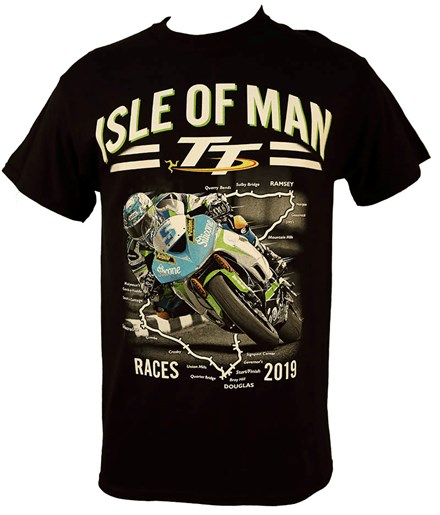 TT 2019 Bike 5 T-Shirt Black - click to enlarge