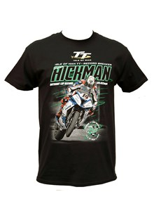 Peter Hickman Record Breaker (Green Lines) T-Shirt Black