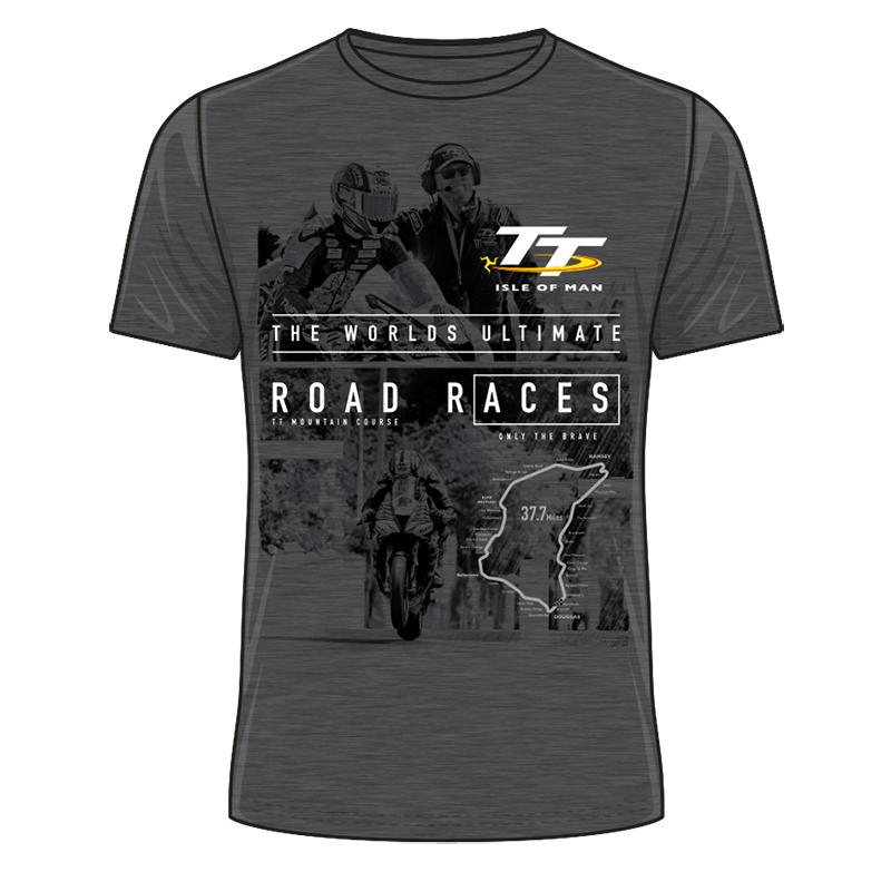0d06c5aff70b0 TT Start Line Ultimate Road Races T-Shirt Dark Heather - click to enlarge