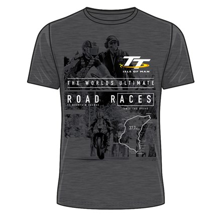 TT Start Line Ultimate Road Races T-Shirt Dark Heather - click to enlarge