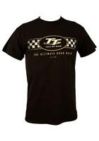 TT Logo Check Design T-Shirt Black