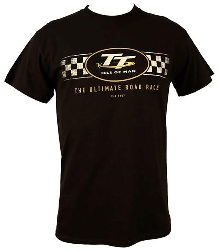 TT Logo Check Design T-Shirt Black - click to enlarge