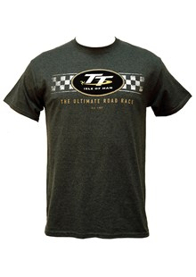 TT Logo Check Design T-Shirt Dark Heather