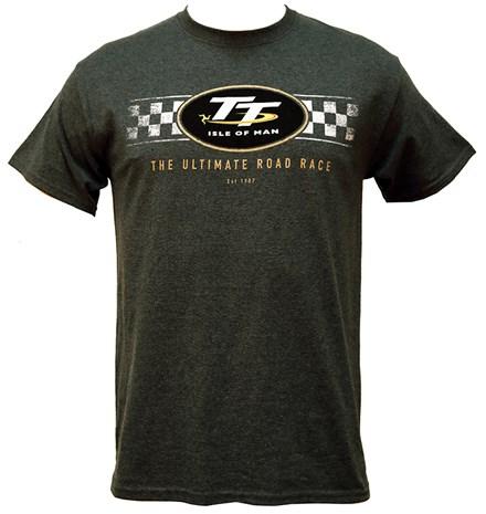 TT Logo Check Design T-Shirt Dark Heather - click to enlarge
