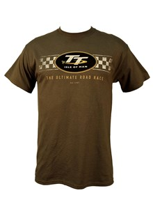 TT Check Design T-Shirt Charcoal (light grey)