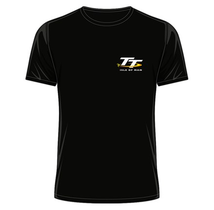 TT Senior Winners T-Shirt Black (Small Logo) - click to enlarge