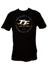TT Vintage T-Shirt Black Road Racing is Living
