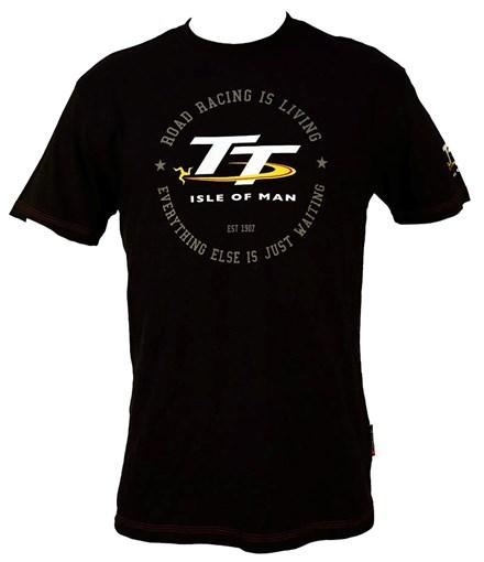 TT Vintage T-Shirt Black Road Racing is Living