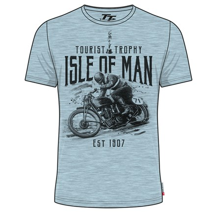 TT Vintage T-Shirt Blue, Bike 71 - click to enlarge