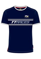 TT Vintage T-shirt Navy, Grey and White TT Races