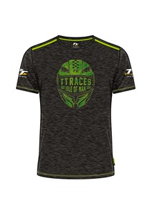 TT Vintage T-Shirt Black, Green Helmet