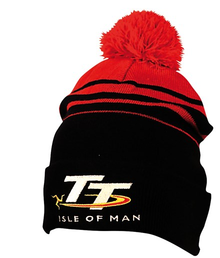 TT Bobble Hat Black/Red