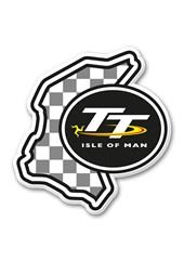TT Fridge Magnet,Chequered & TT Logo