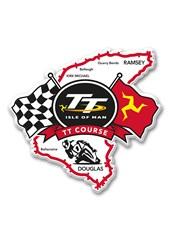 TT Fridge Magnet,2 Flags & TT Logo