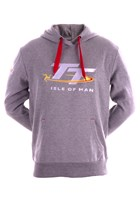 TT Grey Hoodie with Red Drawstring
