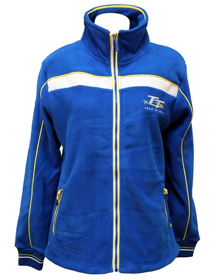 TT Ladies Blue and White Fleece,Yellow Stripe - click to enlarge