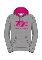 TT Ladies Hoodie Grey/Pink