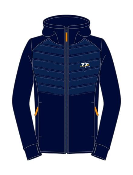 TT Ladies Zipped Hoodie Navy - click to enlarge