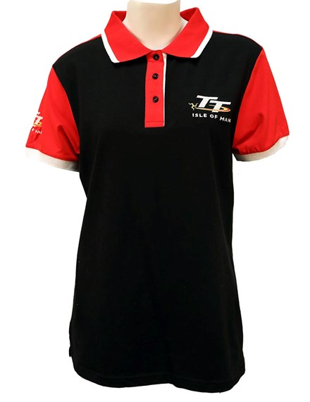 TT Ladies Polo Black - click to enlarge