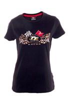 TT 2019 Ladies Gold Bike T-shirt Black