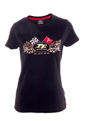 TT 2019 Ladies Gold Bike T-shirt Black