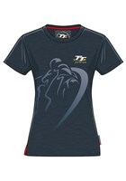 TT Ladies Shadow Bike T-Shirt Navy