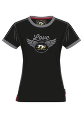 TT Ladies Love T-shirt Black and Grey