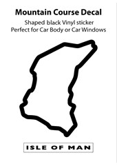 Isle of Man TT Course Outline Decal