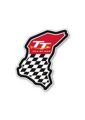 TT Course Chequered with Logo Sticker