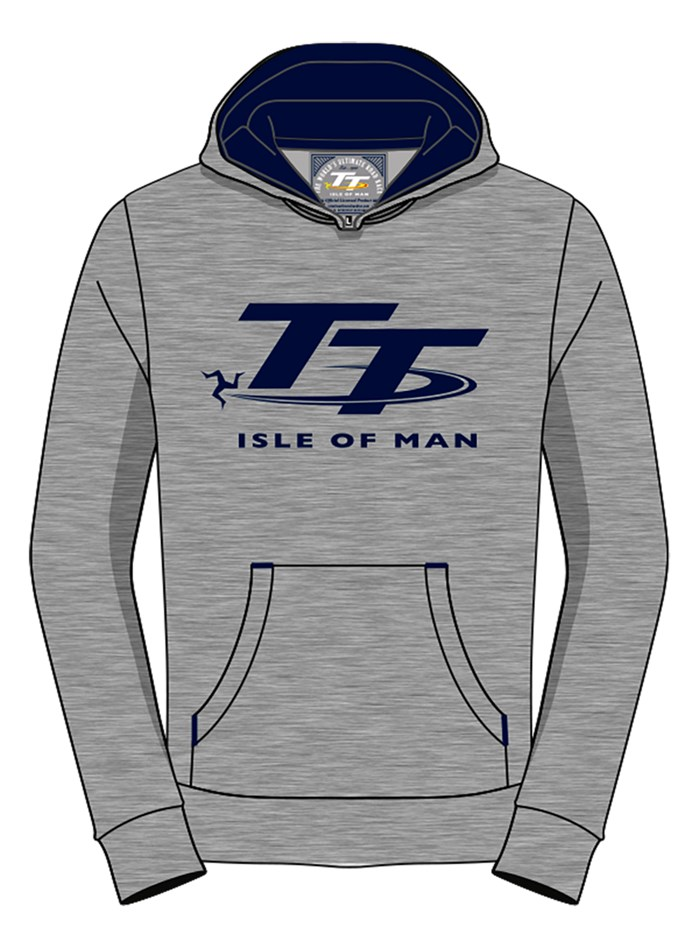 TT Childs Hoodie Grey and Blue - click to enlarge