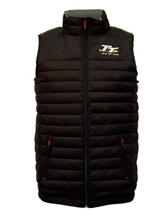 TT Body Warmer Black, Grey Lining