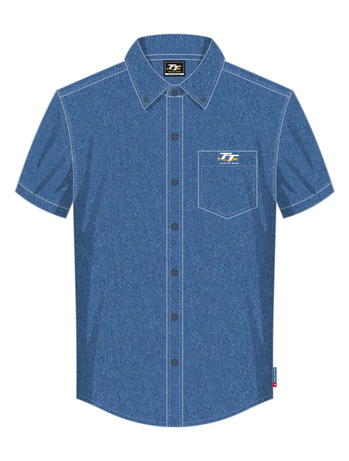TT Denim Short Sleeved Shirt Blue - click to enlarge