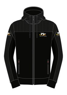 TT Black Hoodie, with Material Shoulders
