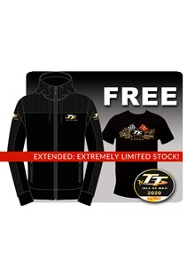TT Black Hoodie with Free Gold Bikes T- Shirts and TT Pin